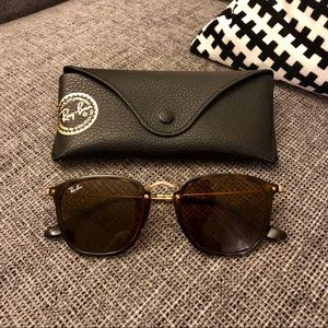 Ray‑Ban Square Sunglasses - Tortoise, Brown, Gold